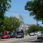 Street Scene at Corner of Baldwin and Colley Avenue